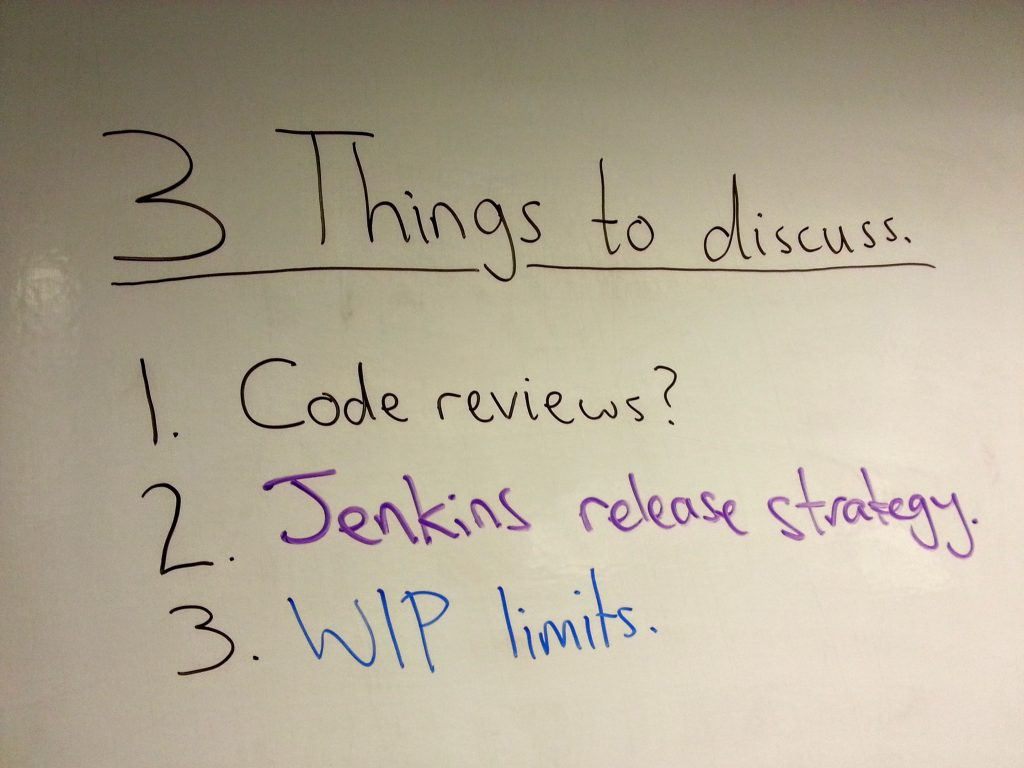"My team uses a technique called ""Things to discuss"" in order to resolve problems quickly"